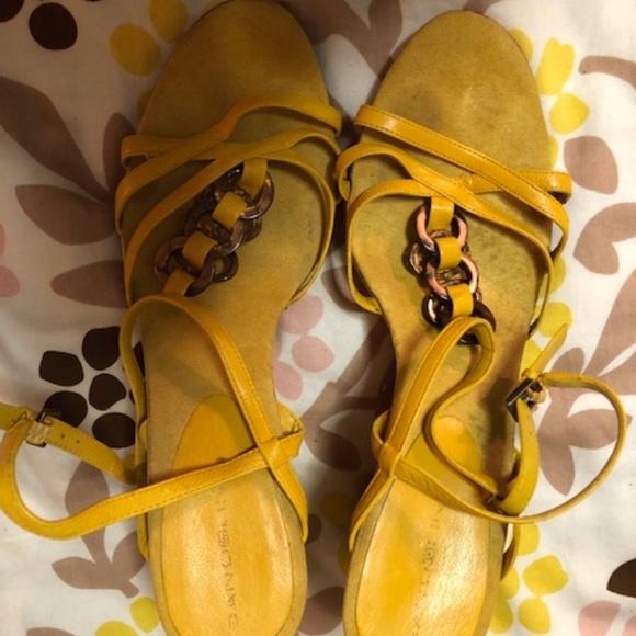 Bandolino Shoes - Yellow Bandolino Wedges